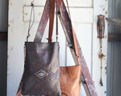 WILD HIDE RANGE Kangaroo Leather Satchel w Hand Laced Design and Features