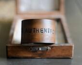 AUTHENTICITY unisex leather  cuff