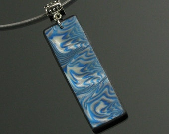Abstract Art Necklace, Mokume Gane Pendant, Polymer Clay Unique Necklace, Handmade Jewelry Gift for Women, Jewelry Shop, Unique Gift for Her