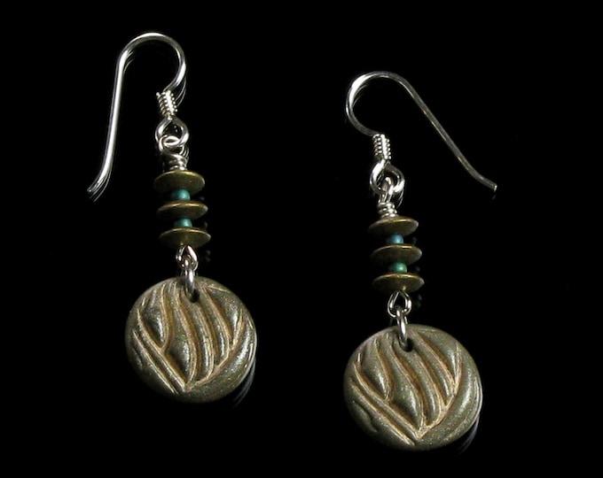 Rustic Ethnic Earrings, Earthy Tribal Dangle, Unique Boho Drop Earrings Gift for Women, Friend, Wife, Womens Gift