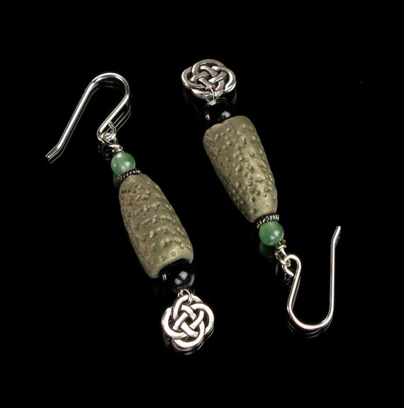 Unique Celtic Silver Earrings, Irish Earrings, Earthy Celtic Knot Jewelry, Unique Earrings Handmade Gift for Her, Mom, Girlfriend, Woman