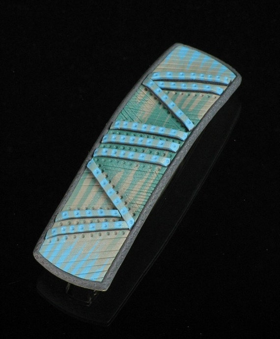 Polymer Clay Mechanical Ponytail Barrette Accessory  - In Parallel