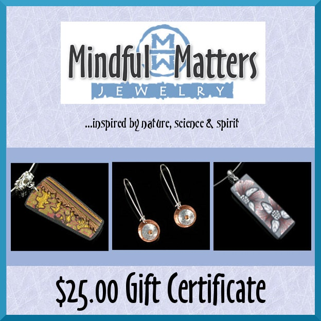Gift Certificate 25 Usd Gift Card Birthday Gift Gift Idea
