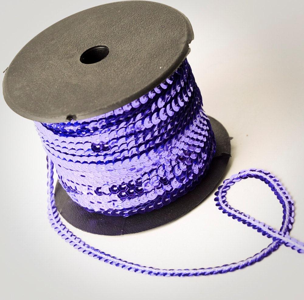 80 Yard Full Spool Purple Single Strand Sequin Trim