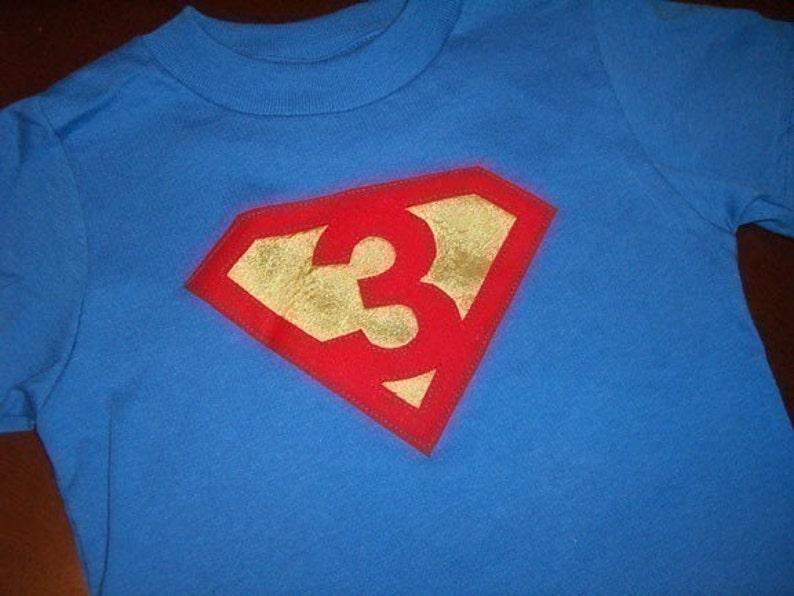 Infant Toddler Boys Third 3rd Birthday Superman Shirt 3T 4T 5T
