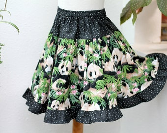 handmade clothes girl skirt purple orange multi colour polka dot size 7