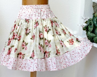 Full & Twirly! Girls Skirt, Christmas Twirl Skirt, Fall Floral Rose Girl Clothes 2 3 4 5 6 7 8 10 12 14 16 Cotton Kid Clothes Child Clothing