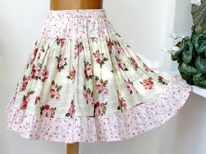 Full & Twirly Girls Skirt Christmas Twirl Skirt Fall Floral image 1