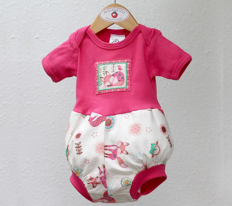 cc5989403 Woodland Animal Baby Romper Trendy Baby Girl Clothes Easter