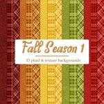CU4CU Digital Papers | Fall Season Colors 1 Plaid Pattern Papers 1 | Digital Designer Tool