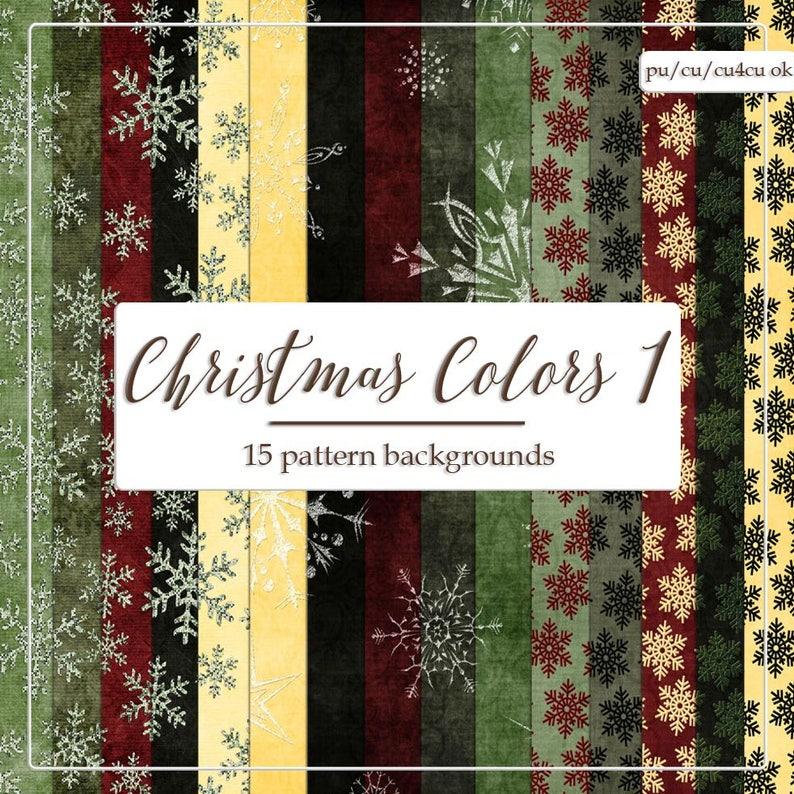 Digital Designer Tool Christmas Colors 1 Snowflake Pattern Backgrounds