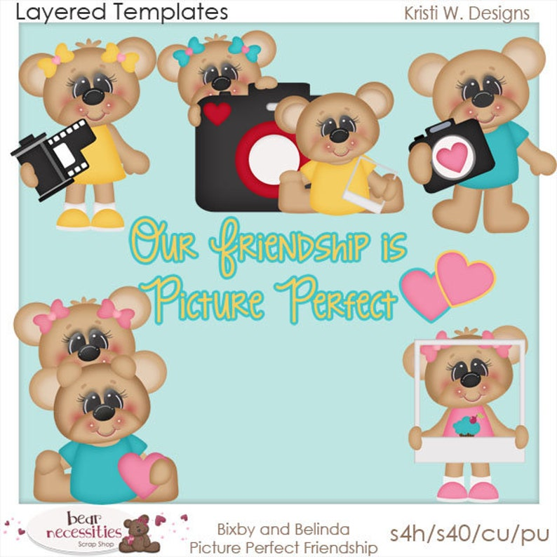Picture Perfect Bears  Layered Templates by Kristi W Designs image 0