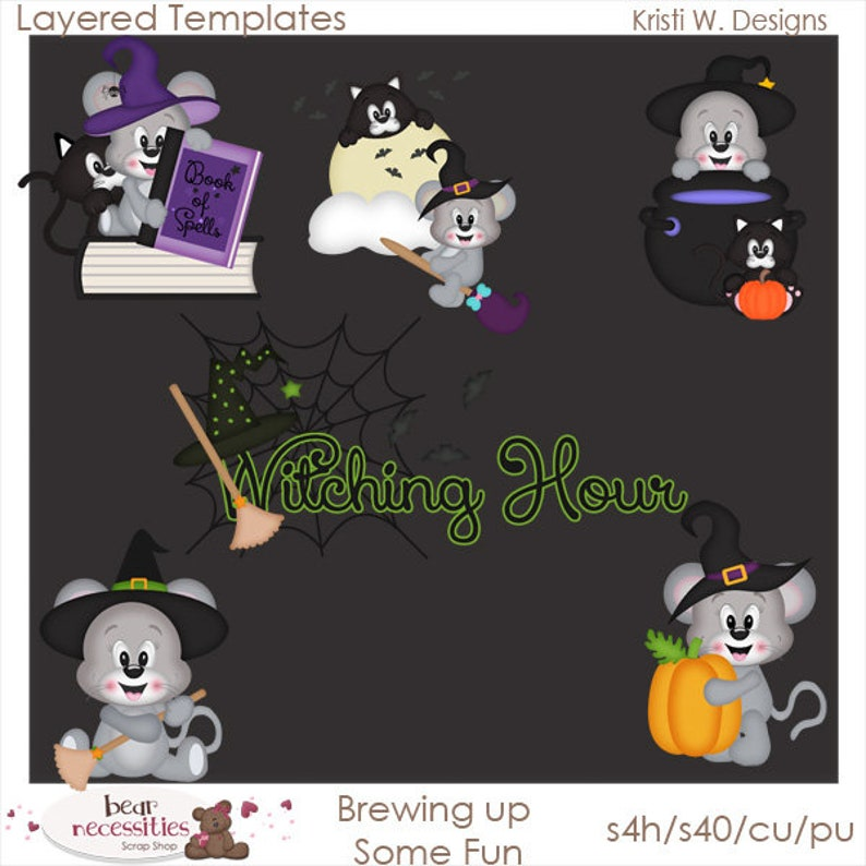 Brewing Up Some Fun  Layered Templates by Kristi W Designs image 0