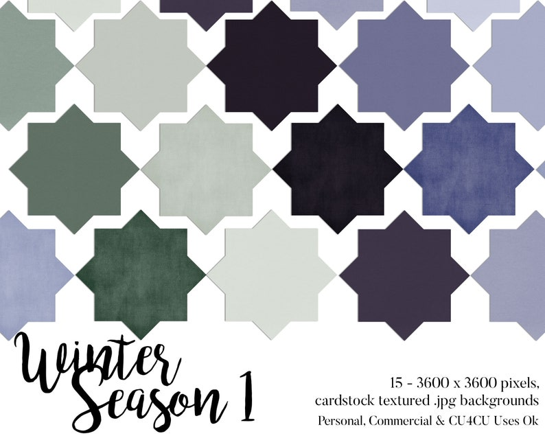 Winter Season Colors Cardstock Textured Backgrounds image 0