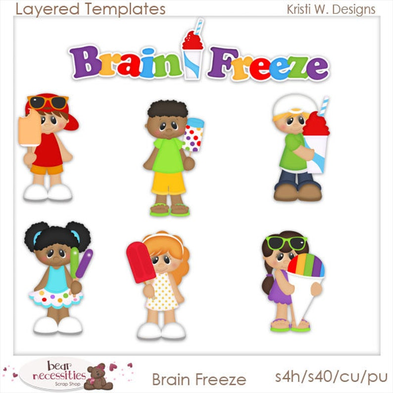 Brain Freeze  Layered Templates by Kristi W Designs image 0