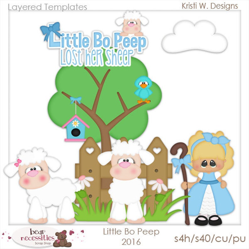 Little Bo Peep  Layered Templates by Kristi W Designs image 0