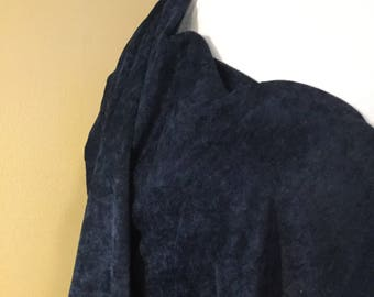Navy blue velour fabric 2 1/2 yards
