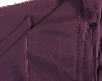 Purple polyester rayon crepe suiting fabric apparel