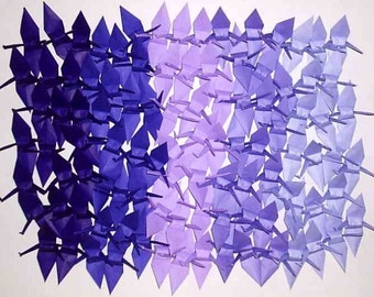 100 Small Origami Cranes Origami Paper Cranes Origami Crane - Made of 7.5cm 3 inches Japanese Paper - 5 Purple Colors