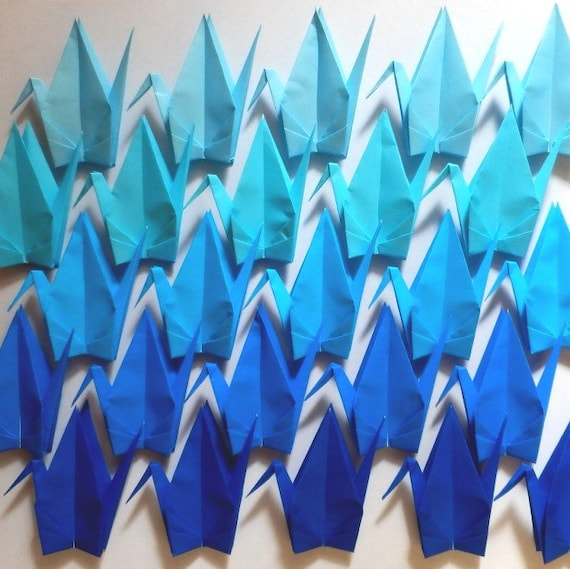 100 Large Origami Cranes Origami Paper Cranes Paper Crane Etsy