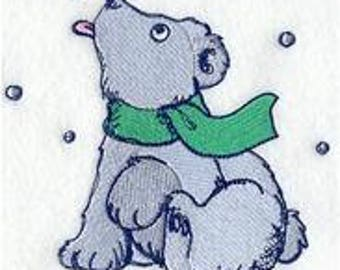 Dog Towel - Christmas Towel - Puppy Towel - Embroidered Towel - Flour Sack Towel - Hand Towel - Bath Towel - Apron