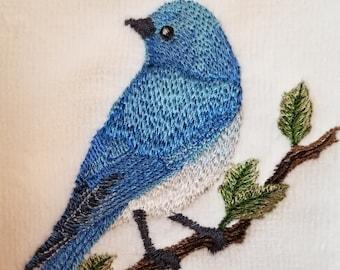 BlueBird Towel - Bird Towel  - Embroidered Towel - Flour Sack Towel - Hand Towel - Bath Towel - Apron