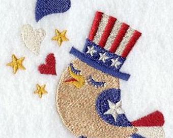 Embroidered 4th of July Towel -  Bird Towel - Flour Sack Towel - Hand Towel - Bath Towel  - Apron - Fingertip Towel