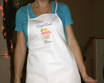 Cupcake Apron - Diva Apron - Personalized Apron - Embroidered Apron - CUPCAKE DIVA APRON