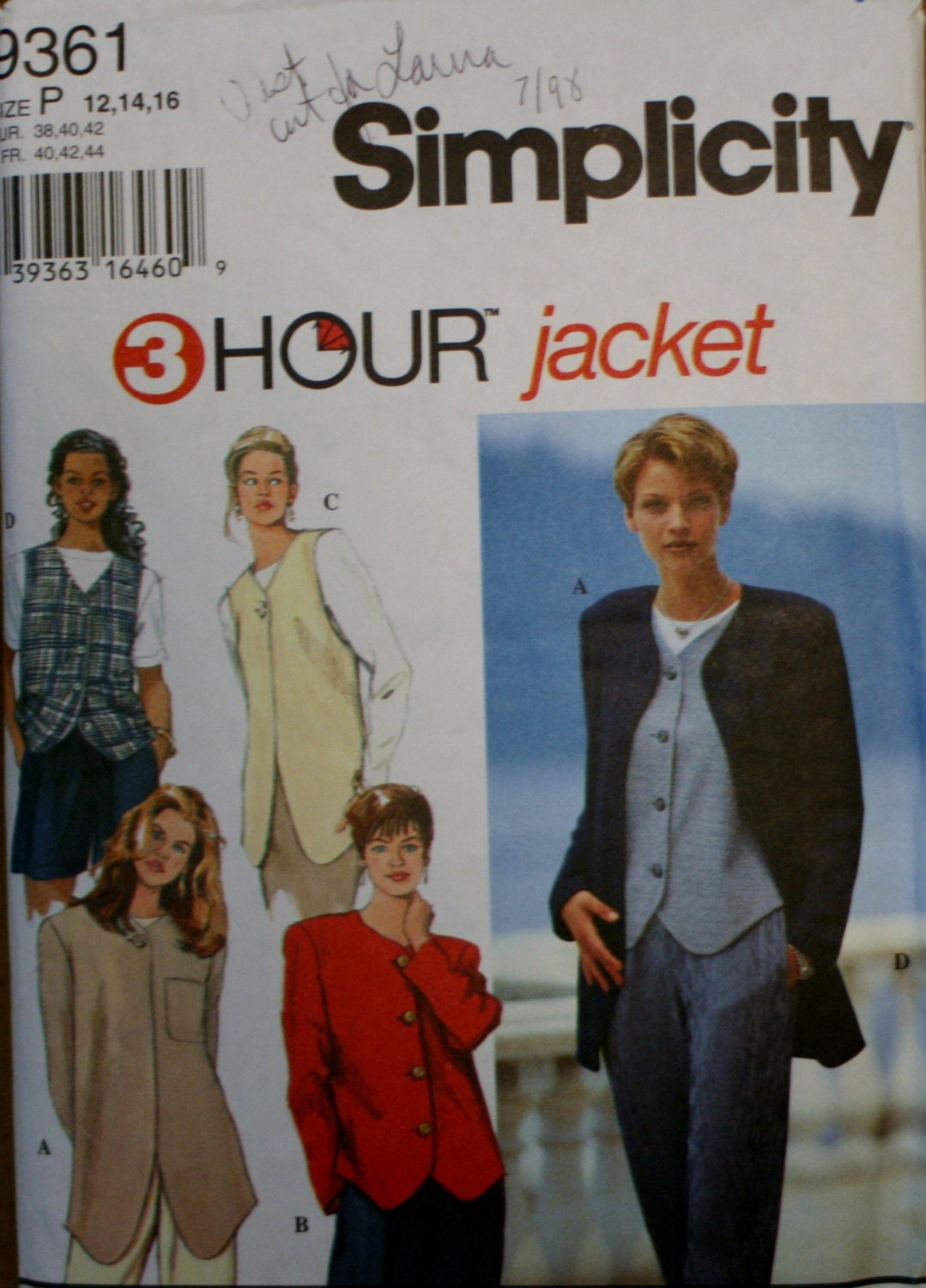 Simplicity 9891 Misses/' Jackets and Vests  Sewing Pattern