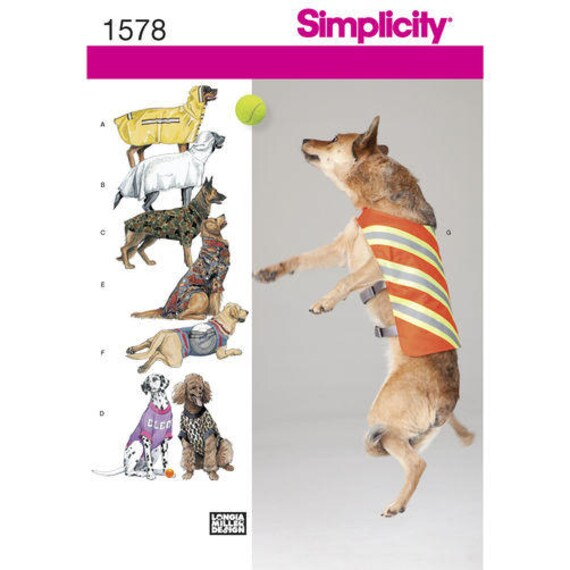 Simplicity Schnittmuster 1578 große Hundemantel großen Hund   Etsy