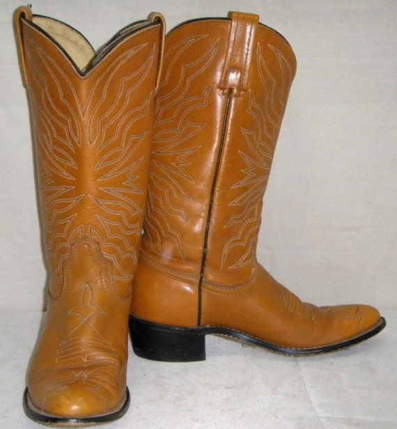 Vintage Acme/Dingo Womens Cowboy Western Leather B