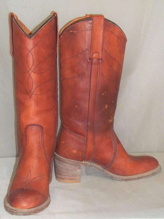 Vintage Miss Capezio BOHO Leather Cowboy Boots Wom