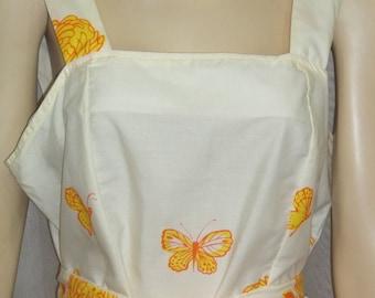 Vintage 1960's Rachelle Butterfly Dahlia Sundress Dress Medium Large
