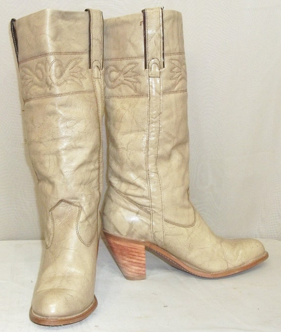 Vintage Capezio BOHO Marbled Leather Cowboy Wester