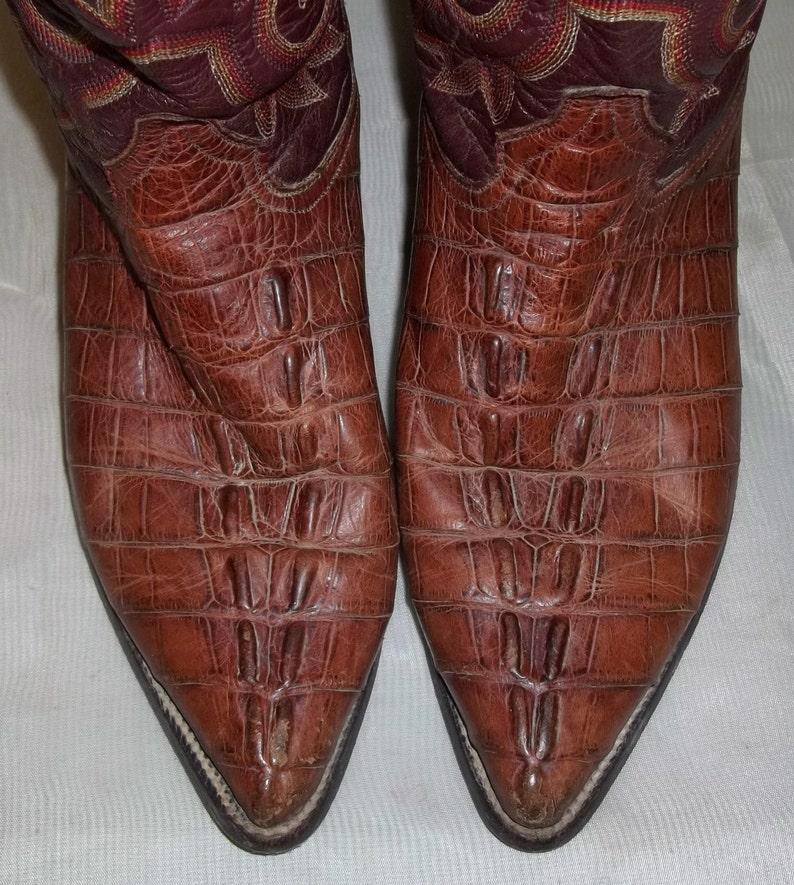a4b8c6a5d88 Vintage Mens Rudel Crocodile Leather Cowboy Western Boots 8 E