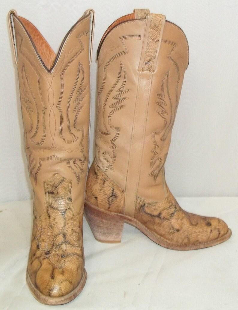 262d501e87a Vintage Miss Capezio BOHO Tall Leather Cowboy Boots Womens 8 M