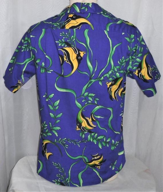 9806034540b Vintage Hilo Hattie Hawaiian Shirt Made in Hawaii Yellow Angel