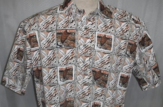 e7f01c80 Vintage Hilo Hattie Hawaiian Shirt Made in Hawaii Brown Sail | Etsy