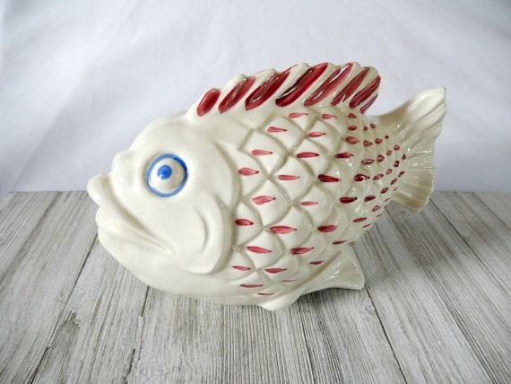 Ceramic Fish Planter Large Fish Planter Fish Decor Beach Etsy