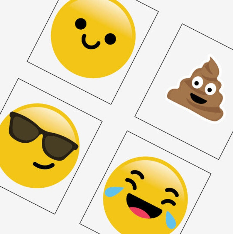 picture about Printable Emoticons Free identified as Emojis Emoticons - Scrabble Sizing Printable Shots - Get 2 Just take 1 Free of charge - Quick Obtain - .75x.83 Inch - Electronic Document - Automated Down load
