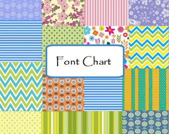Font Chart ~ DO NOT add to cart