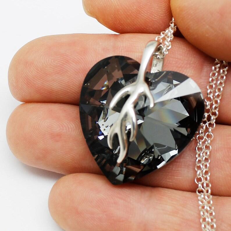 20cbb5678 Pendant Necklace Huge Heart Pendant Jewelry Heart 28mm | Etsy