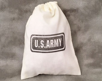 Army Custom Party Favors - Armed Services - Deployment - Army Theme - Army Deployment - Army Gift Bags - Military Mementos - Set of 10 Bags