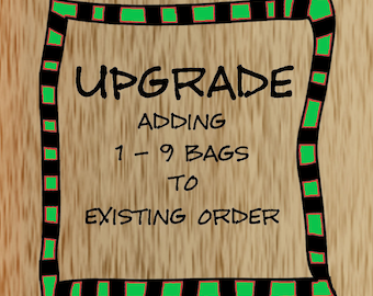 Upgrade - Addition of 1-9 bags - Custom Cotton Muslin Bag - Personalized Muslin Bag -  ** For Existing Orders Only