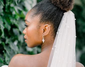 Single layer pearl veil - bridal veil - wedding vail