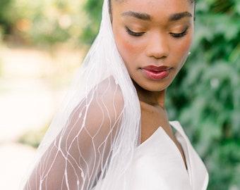 Lace bridal veil - wedding veil - wedding vail