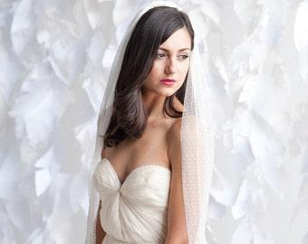 Swiss dot polka dot bridal veil - bridal veil - wedding veil - dot veil - wedding vail