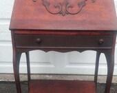 Antique Cherry Secretary Desk Ladies Writing Desk Local PICK UP only