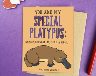 Funny Valentine's Day Card | Funny Platypus Card | Funny Love Card | Funny Galentine's Card | Cute Platypus Card- Special Platypus