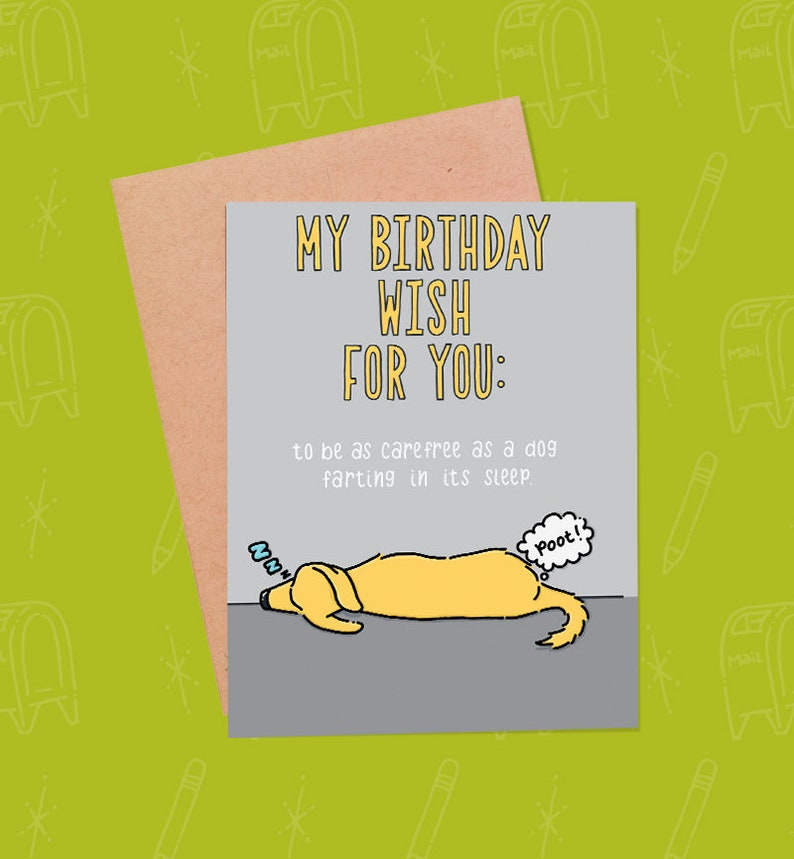 Funny Birthday Card  Funny Dog Card  Dog Birthday Card  image 0